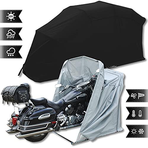Motorradgarage Faltgarage Motorrad Roller Moped Garage...